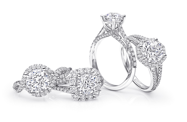 bridal, engagement rings and wedding bands.